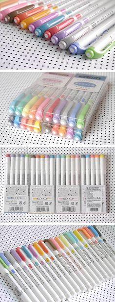 Textmarker Marker Pens Home Office Schule Set Doppelköpfige Zeichnung Heiß