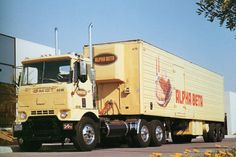 During the 60's. And 70's these were not unusual to see running around the bay area in California. This is a GMC cabover many used the term Cracker box to identify it.