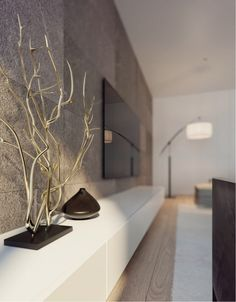 The interiors of the apartment in Novgorod, Interior Photo, Interior Styling, Interior Decorating, Decor Inspiration, Interior Design Inspiration, Tv Wall Decor, Living Spaces, Living Room, Space Interiors