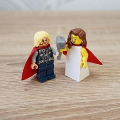 Thor Lego Bride And Groom Cake Toppers Wedding Topper