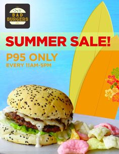 Enjoy all the burgers that you want with Bad Burgers Summer Sale! Bad Burger, Burgers, Summer Sale, Ethnic Recipes, Food, Hamburgers, Meals, Hamburger Patties