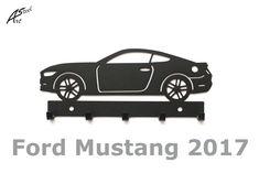 Wieszak na klucze / key rack - Ford Mustang 2017   Worldwide Shipping  #wieszak #Ford #Mustang #klucze #design #dekoracja #pomysl #prezent #idea #car #auto #samochod #black #gift #poland #quality #key #gadzet #czarny #wall #hanger #rack