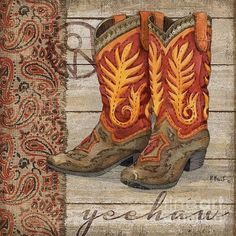Wild West Boots I Print By Paul Brent