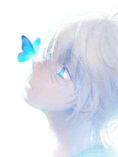 Image in Anime Boys collection by Shiro on We Heart It Anime Oc, Kawaii Anime, Fille Blonde Anime, Anime Art Girl, Anime Girls, Anime Butterfly, Butterfly Video, Butterfly Drawing, Butterfly Painting