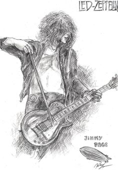 Jimmy Page fast sketch by MishimoChan on DeviantArt Led Zeppelin Art, Jimmy Page, My Room, My Drawings, My Arts, Sketch, Deviantart, Painting, Design