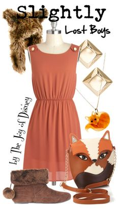 Outfit inspired by Slightly (the fox) from the Lost Boys in Peter Pan!