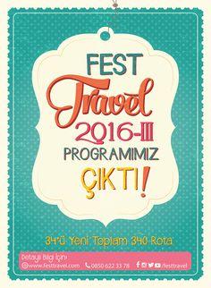 FEST Program 2016-III Çıktı! 340 Rota, 34 Yeni Güzergâh!
