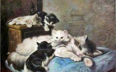 La Sieste Private Collection cats in art