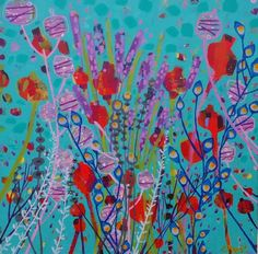 Poppies and Honesty - Claire West