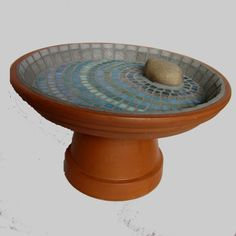 Terra Cotta Pot Mosaic Birdbath Pots Gl Art