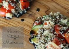 Tone it up recipe: Quinoa stuffed mushroom Lunch