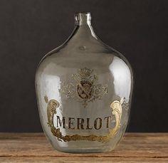 1920s glass bottle...Merlot...wine in a beautiful bottle