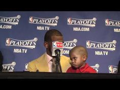 Chris Paul's son makes a cute face, which is great, even cooler though is  Paul holding his son during the interview. Awesome points for being a great role model!