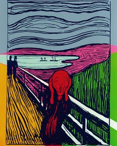 Andy Warhol - The Scream (After Munch), 1984.... Not a fan of Andy but the scream I am