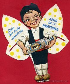 PUBLICIDAD ANIS LA PRAVIANA OVIEDO , ASTURIAS , TROQUELADO PAYPAY PAY PAY , ANTIGUO ,ORIGINAL, G (Coleccionismo - Carteles Gran Formato - Carteles Publicitarios) Vintage Wine, Vintage Ads, Vintage Posters, Asturian, Wine Poster, Asturias Spain, Creepy Kids, Vintage Branding, Old Ads