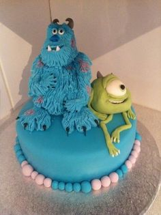 Monster inc  Cake by Clairescakes1