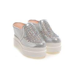 Platform wedges sandals and slippersOutdoor nonslip platform for diamond  bottom half of baotou slippersA Foot length218CM86Inch · Flip Flop ... f0a76b769e1b