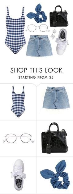 """Untitled #21581"" by florencia95 ❤ liked on Polyvore featuring Solid & Striped, Ahlem, Yves Saint Laurent, Puma and Dorothy Perkins"