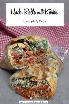 Lowcarb Wrap aus Kürbispüree Low Carb Wraps, Breakfast Snacks, Tacos, Ethnic Recipes, Food, Grilled Squash, Baked Pumpkin, Ground Beef Recipes, Healthy Wraps