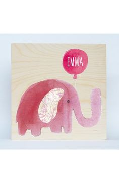 Someday Inc. 'Elephant' Personalized Birchwood Wall Art available at #Nordstrom
