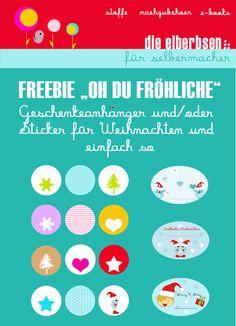 Freebie Printable Kostenloser Download von Geschenkeanhänger/Sticker für den private Zweck. Copyright die elberbsen