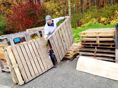 Building a pallet wall