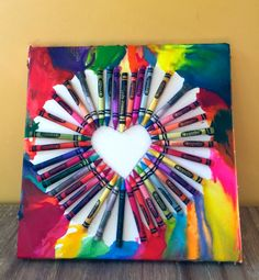 Easy Crayon art, only takes 45 minutes to make, good for kids, adults, and teenagers