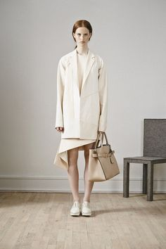 Reed Krakoff resort '15: asymmetrical hem dress with jacket