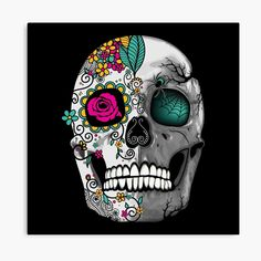 Symbolic Art, Skull Design, Day Of The Dead, Vector Art, Mystic, Digital Art, Symbols, Fantasy, Illustration