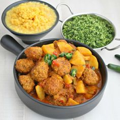 Meatball and Potato Curry.