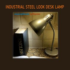 Industrial Desk Lamp Furniture - Hammered Steel Look - Table Lamp Light - Rustic - Vintage - Retro. Finished and ready to ship now. $29.99