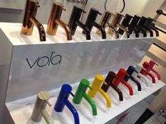 Vola- one-handle mixer I fell for VOLA , a Scandanavian tap brand at Boutique Design New York. I am a stickler for purity in design. Restroom Design, Bathroom Interior Design, Interior Decorating, Tiny House Bathroom, Small Bathroom, Bathroom Kids, Toilette Design, Bright Decor, Bathroom Fixtures