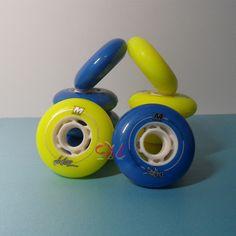 8 Pcs/Lot MATTER Juice Zefiro FSK Slalom Inline Skates Wheel for SEBA HV RB Patins, Yellow Blue Multi-Purpose Wheels