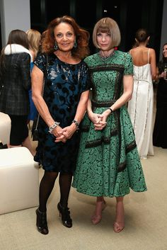 cfda vogue fashion fund awards 2014 | diane von furstenberg + anna wintour