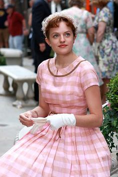 82-2. MAD MEN Peggy Olson PINK EASTER DRESS mini repro by Natalia Sheppard, via Flickr