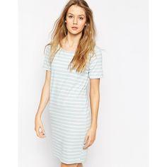 b.Young Sasha Striped T-Shirt Dress ($25) ❤ liked on Polyvore