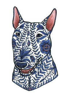 Ornamented bull terrier