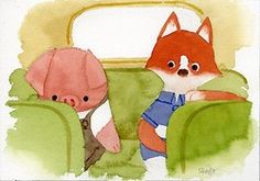 Concept art from a new short film, The Dam Keeper, by Pixar artists Dice Tsutsumi and Robert Kondo.