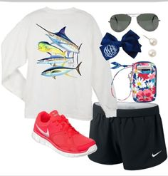 Work out guy Harvey preppy style except it should be navy shorts