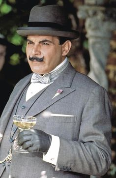 A toast to the GREAT detective, Poirot. Hercule Poirot, Agatha Christie's Poirot, Detective Series, Police Detective, Mystery Series, Mrs Marple, Bbc Tv Shows, Tv Detectives, Famous Detectives