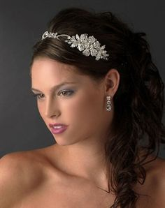 Love the tiara an hairstyle!