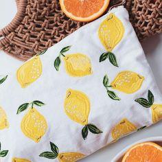 Buy Elizabeth Scarlett Lemon Blanc Travel Pouch Wash Bag Now at Dotmaison. Quality designer homewares & Free UK delivery over Canvas Fabric, Cotton Canvas, Minimalist Packing, Cute Coin Purse, Travel Toiletries, Travel Wardrobe, Hand Illustration, Wash Bags, Travel Essentials