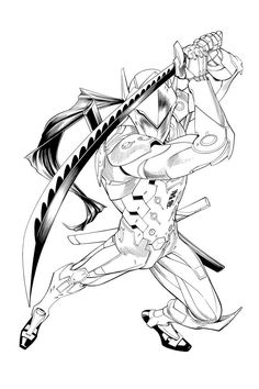Art de fans art and illustrations on pinterest for Overwatch genji coloring pages