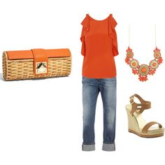 orange I'm a country Women and I Would love to wear this!!! Can you say Farmers market!