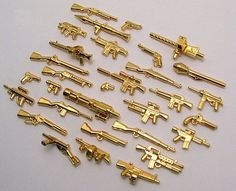 BrickArms 24k Gold Weapons | Custom LEGO Minifigures