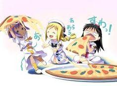 Resultado de imagen para chica anime comiendo