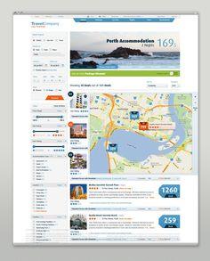 Travel Website Redesign #filter by Martin Oberhäuser, via Behance