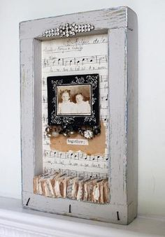 Shadowbox collage--Together by Rebecca Sower, via Flickr by ly-doris