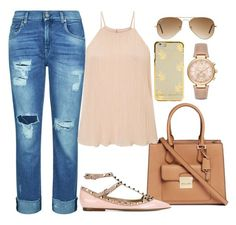 """""""One Hundred Thirty Three"""" by yumizingapan on Polyvore featuring 7 For All Mankind, Michael Kors, Miss Selfridge, Valentino and Ray-Ban"""