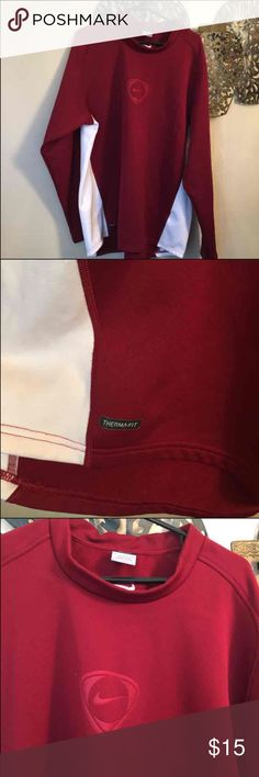 Men's maroon Nike therma fit Like new but older style therma fit size XL Nike Shirts Sweatshirts & Hoodies